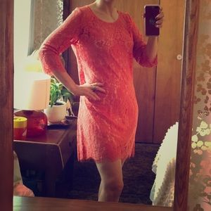Lacy Polished Cocktail Dress